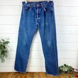 VTG Levi's 501 Mens 34x32 Blue Jeans Straight